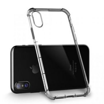 IPhone XR Hybrid Polycarbonate Cover Med Silikone Bumper - Black