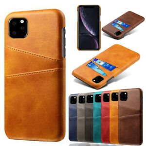 iPhone 11 Leather Cover Med lomme Brun
